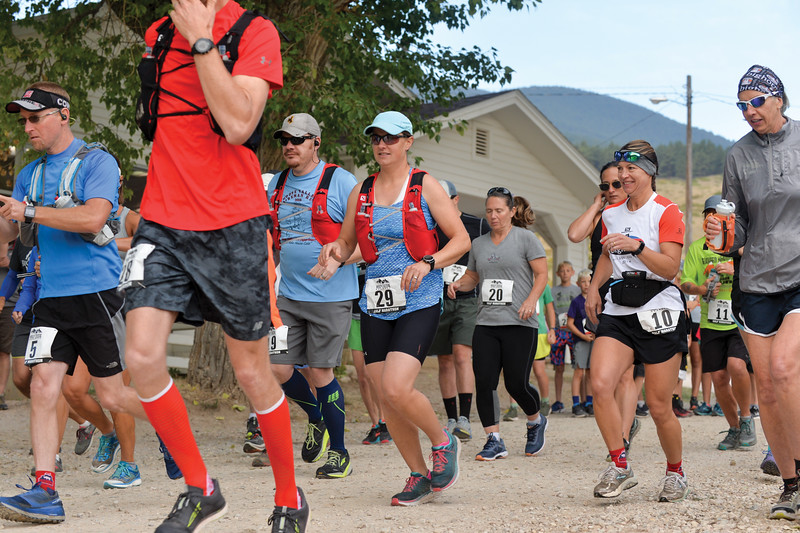 Ashleigh Fox | The Sheridan Press<br> Half marathon runners start the Wolf Creek Wrangle Saturday, Sept. 15, 2018. Proceeds from the race go directly toward Habitat for Humanity of the Eastern Bighorns construction projects.