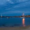 Wollongong bay at night