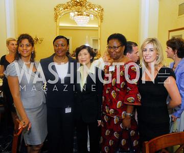 Amb. Gillian Bristol, Amb. Faida Mitifu, Amb. Chan Hang Chee, Charity Wallace, Women Ambassador's Round Table and Young Women's Leadership Summit, July 20, 2011, Kyle Samperton
