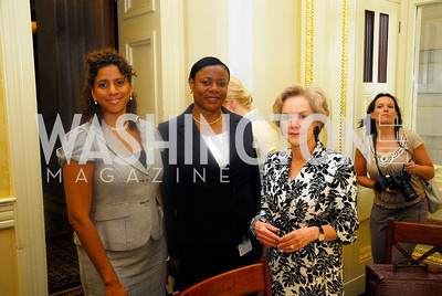 Amb. Gillian Bristol, Amb. Faida Mitifu, Sally Shelton-Colby, Women Ambassador's Round Table and Young Women's Leadership Summit, July 20, 2011, Kyle Samperton