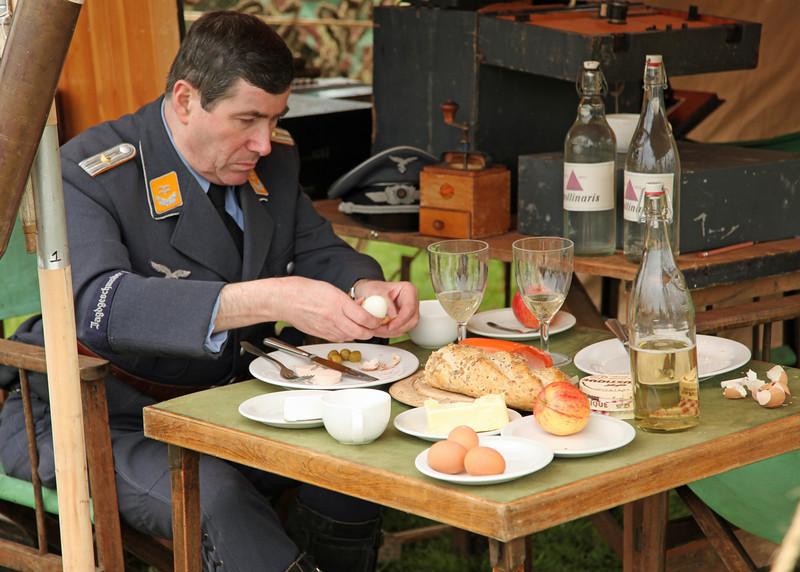 An officers lunch