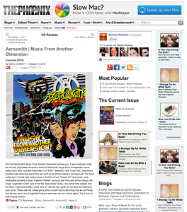 "Aerosmith ""Music From Another Dimension"" review for the Boston Phoenix, Nov 2,  2012"