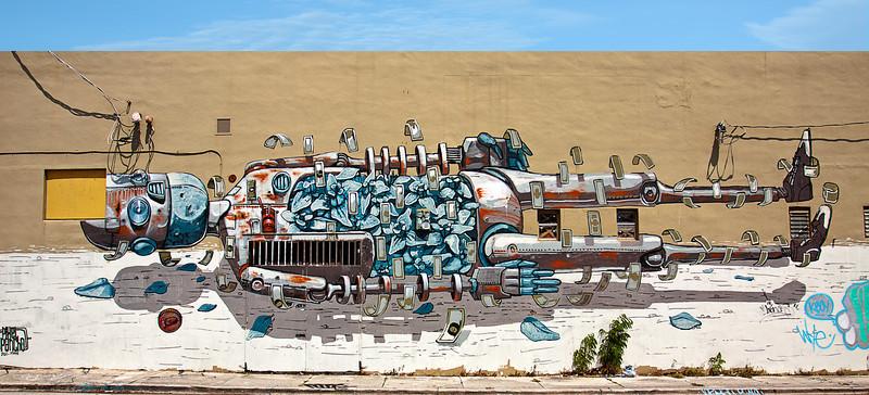 """Robot In Repose""<br /> Wynwood Walls<br /> Miami, Florida"