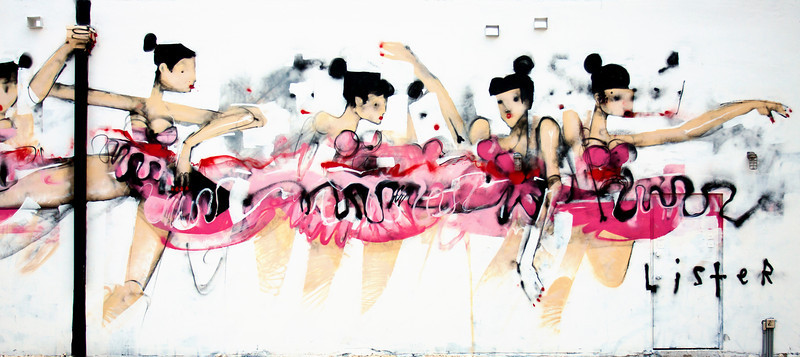 """Ballerinas""<br /> Wynwood Walls<br /> Miami, Florida"