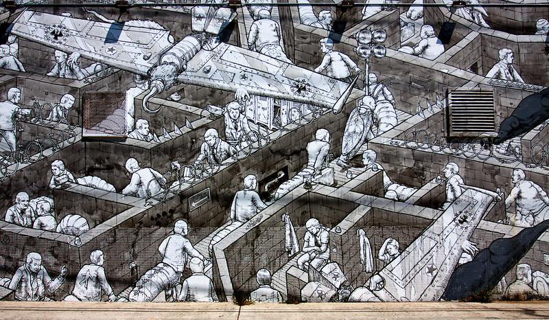 """""""Wall Street Labyrinth""""<br /> Wynwood Walls<br /> Miami, Florida"""