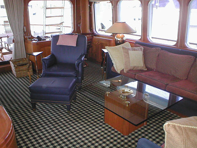 Interior Designed keeping the classical yacht style.