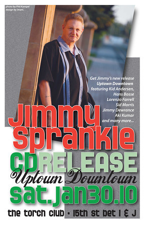 Jim Sprankle CD release party poster