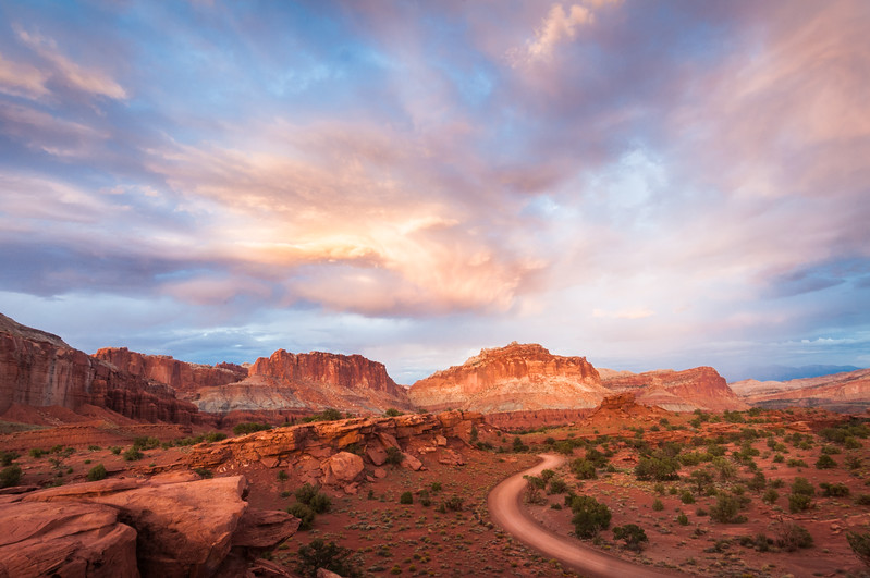 Sunset over Capitol Reef