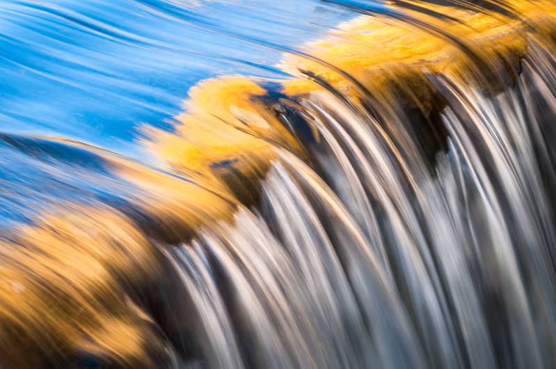 Water Cascades in Autumn - Lundy Canyon