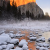Golden Sunset on El Capitan in Winter