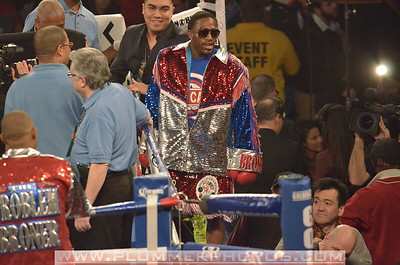 ADRIEN BRONER prepares for a Lightweight title bout at Boardwalk Hall in Atlantic City, New Jersey against Gavin Rees.