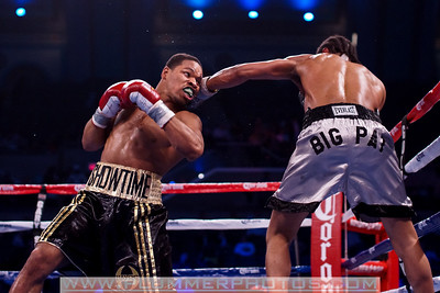 SHAWN PORTER (left) defeats PATRICK THOMPSON by way if TKO as part of the Bernard Hopkins versus Chad Dawson II undercard.