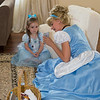 Cinderella shows Cate what she looks like in her new princess tiara.