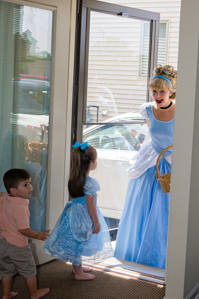 Cinderella is excited to visit Cate too!