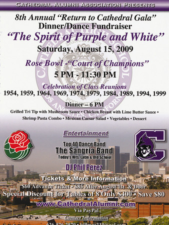 8TH ANNUAL RETURN TO CATHEDRAL GALA @ ROSE BOWL • 08.15.09