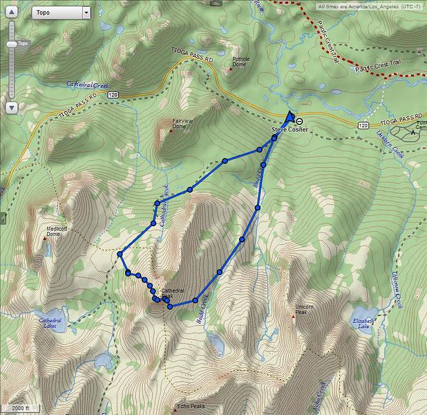 Garmin InReach track point map