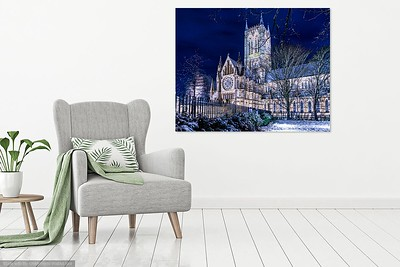 Snowy cathedral in lounge