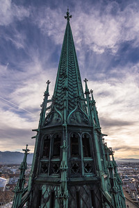 Belltower of St. Pierre's Cathedral, Geneva, Switzerland