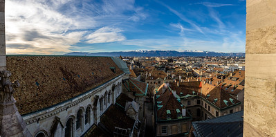 Panorama from St. Pierre's Cathedral, Geneva, Switzerland