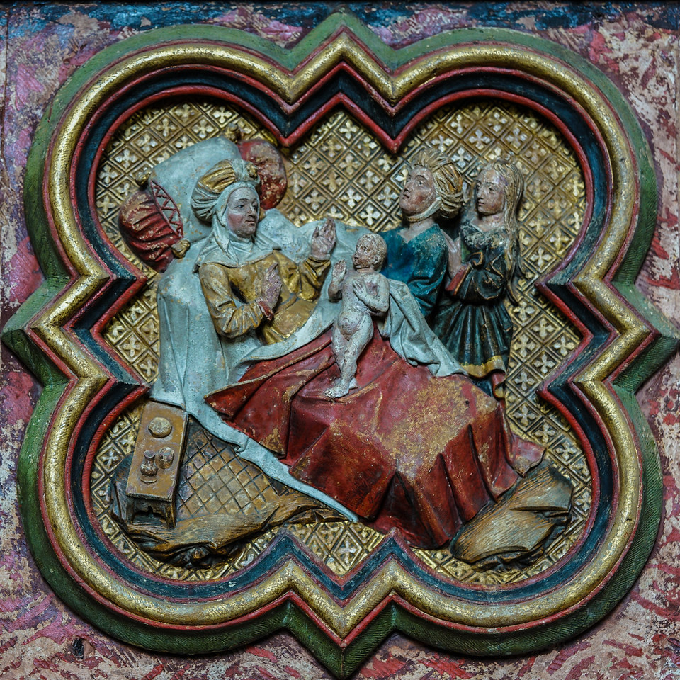 Amiens Cathedral, Elizabeth Naming her Son, John