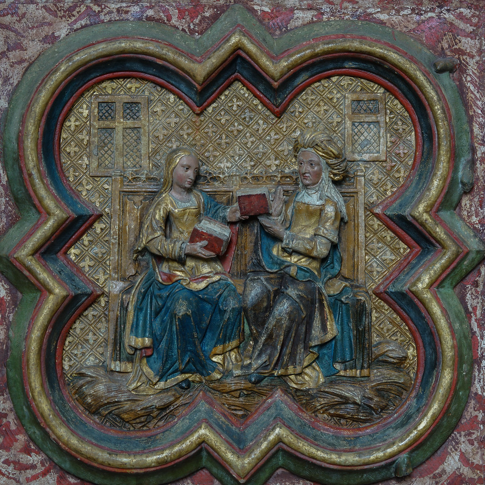 Amiens, Notre-Dame Cathedral, The Visitation of Mary and Elizabeth