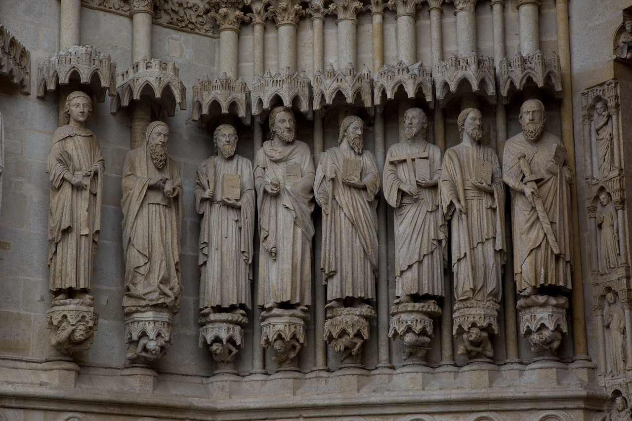 Amiens Cathedral West Facade Jamb Figures, The Apostles