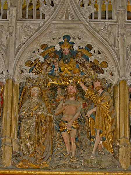 Amiens Cathedral Choir Screen, The Baptism of Christ