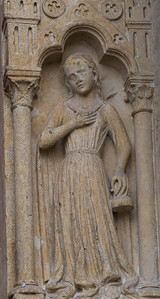 Amiens Cathedral West Facade Door Figure