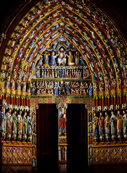Amiens Cathedral Central Portal, The Last Judgment