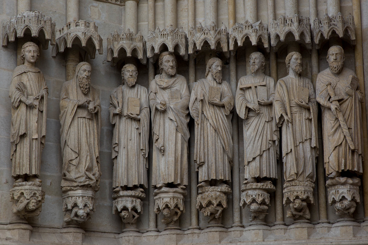 Amiens Cathedral West Facade Apostles