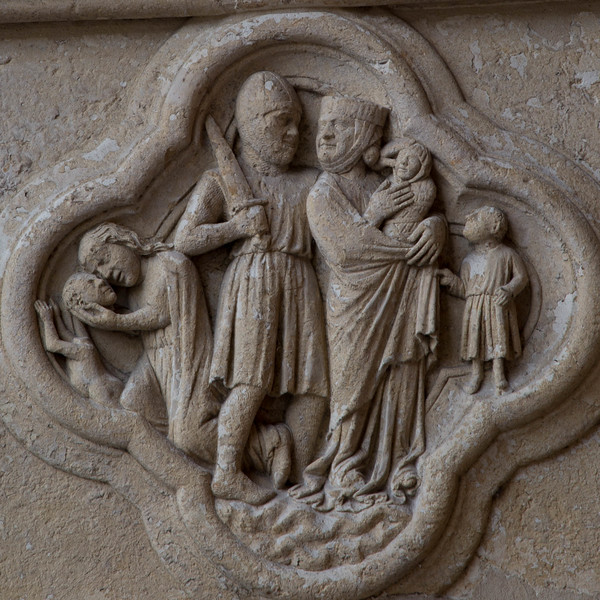 Amiens Cathedral West Facade Quatrefoil, The Massacre of the Innocents