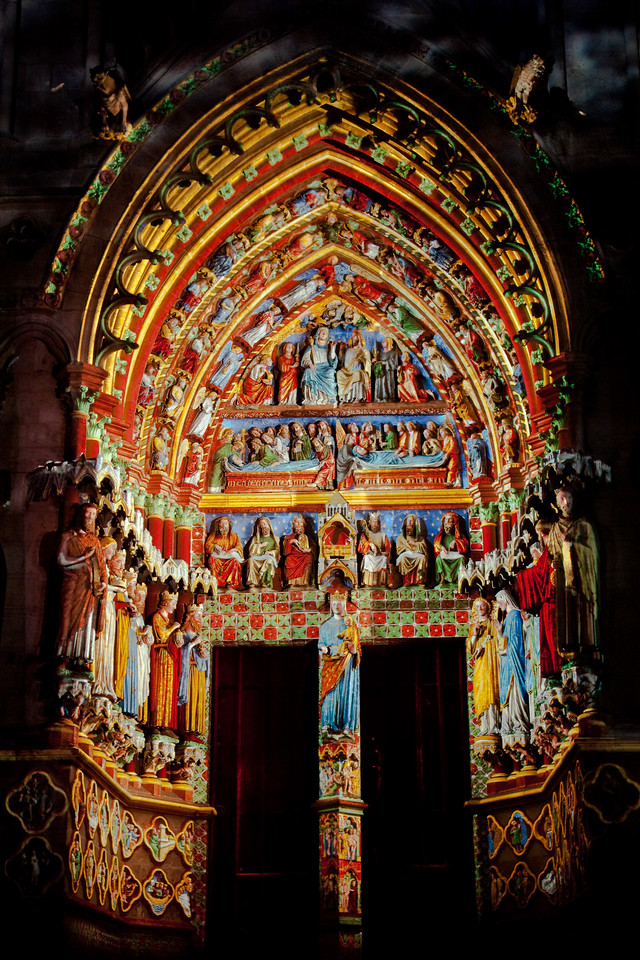 Amiens Cathedral West Facade Portal of the Virgin