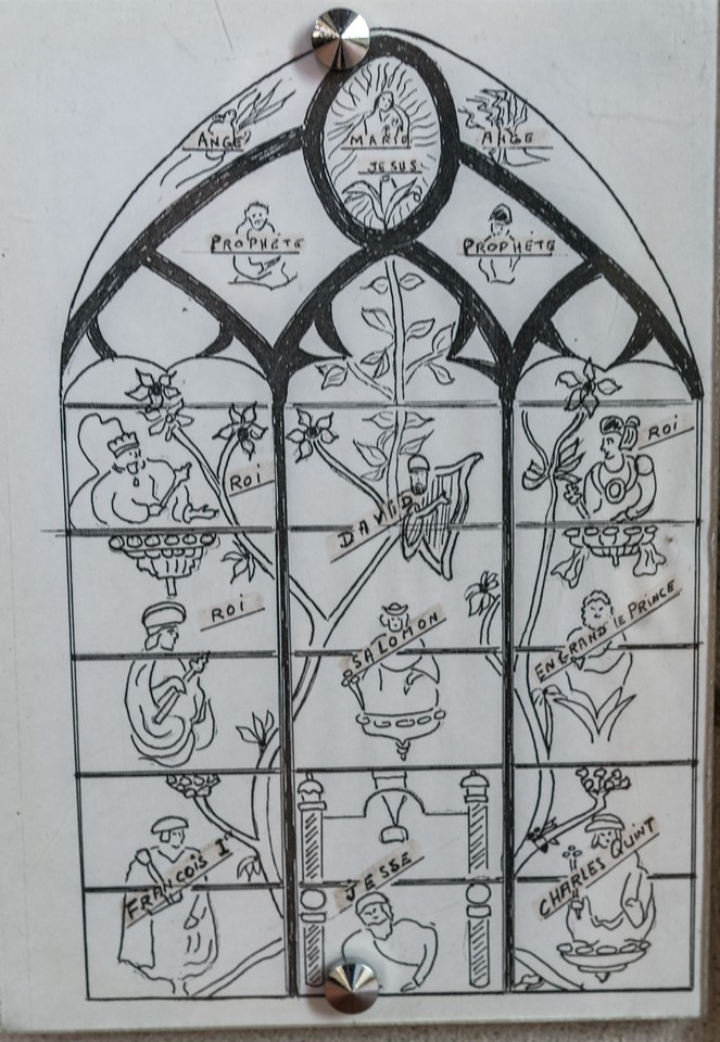 Beauvais, Saint-Etienne Church  - Diagram of the Tree of Jesse