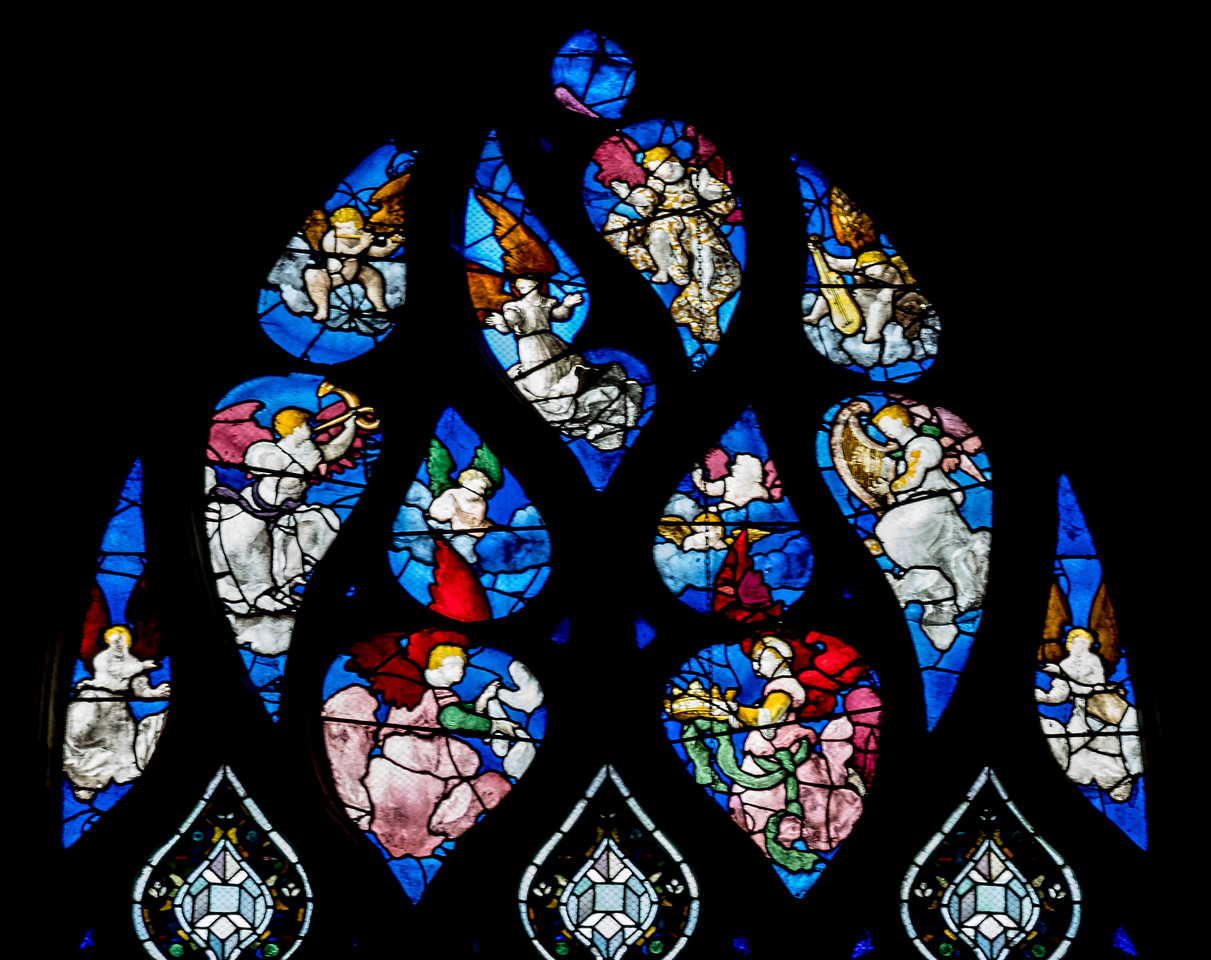 Beauvais, Saint-Etienne Church - Saint-Martin Window Angels