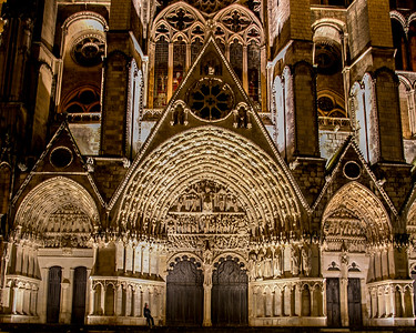 Bourges, Saint Stephen Cathedral Central Portals