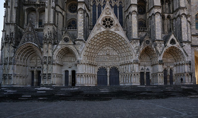 Bourges, Saint Stephen Cathedral West Facade Portals