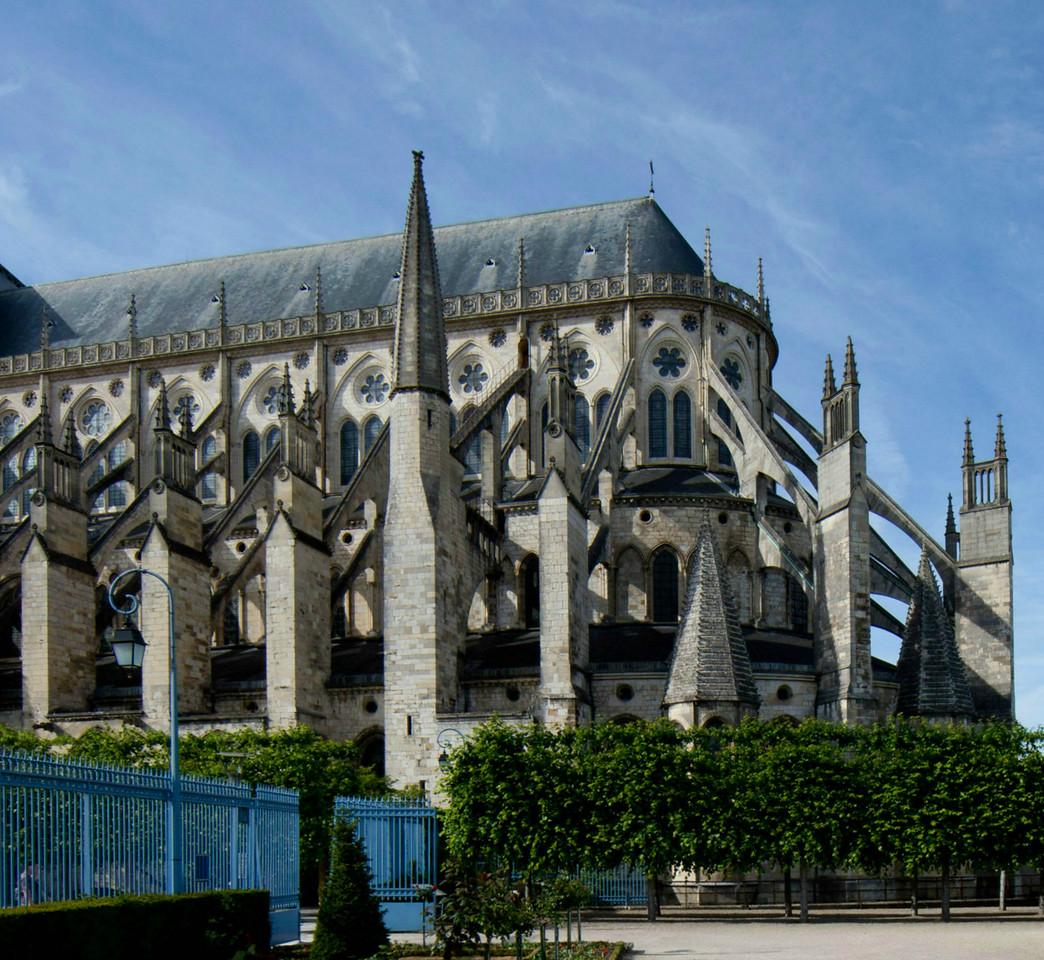 Bourges Cathedral Chevet from the Bishop's Garden