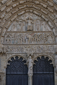 Bourges, Saint Stephen Cathedral West Facade Last Judgment Portal