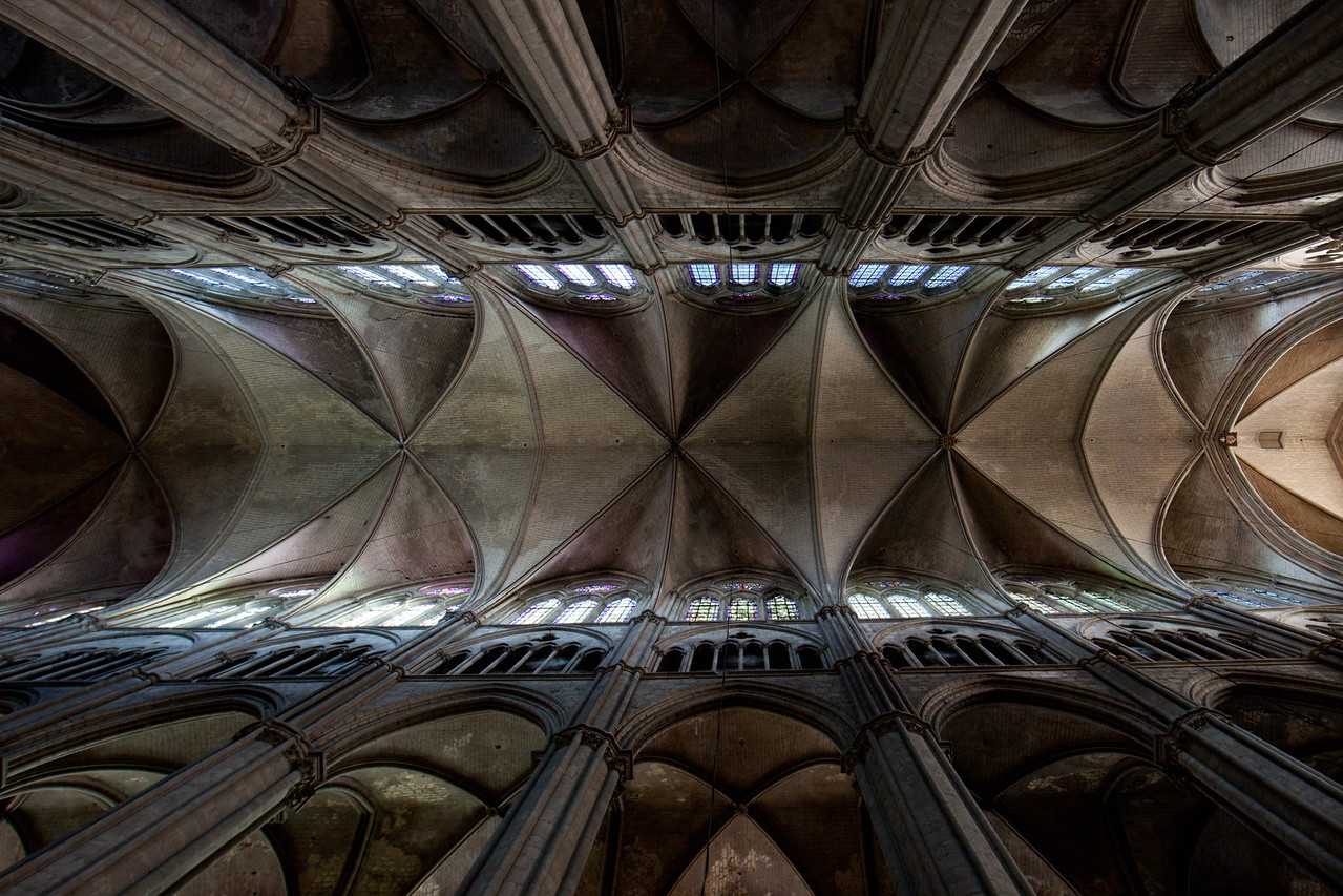 Bourges, Saint Stephen Cathedral Nave Vaults