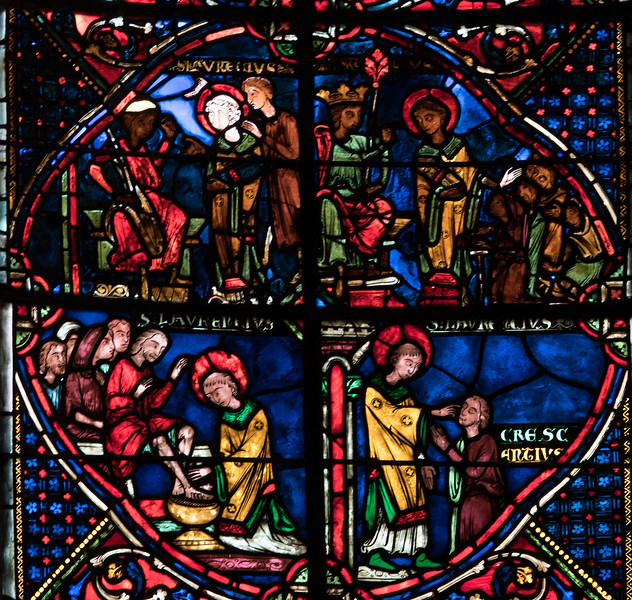 Bourges Cathedral, The Saint-Lawrence Window Scenes