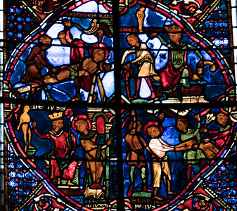 Bourges Cathedral, The Saint-Lawrence Window Martyrdom Scenes
