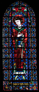 Bourges Cathedral Clerestory Lancet Window - Saint-Stephen