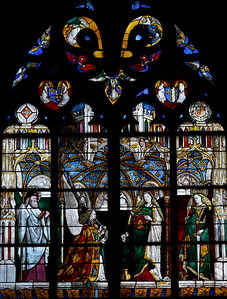 Bourges Cathedral, The Annunciation Window