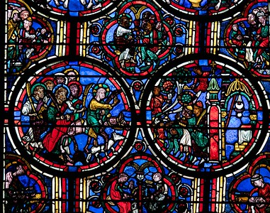 Bourges Cathedral Passion Window, The Entry into Jerusalem