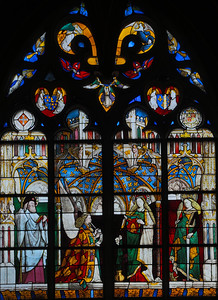 Bourges Cathedral  Jacques Coeur Window, The Annunciation