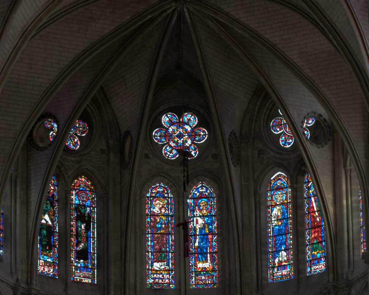Bourges Cathedral Choir Clerestory Windows
