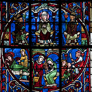 Bourges Cathedral, Saint-Nicholas Becoming a Bishop
