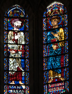 Bourges Cathedral Clerestory Windows, Saints Andrew and John