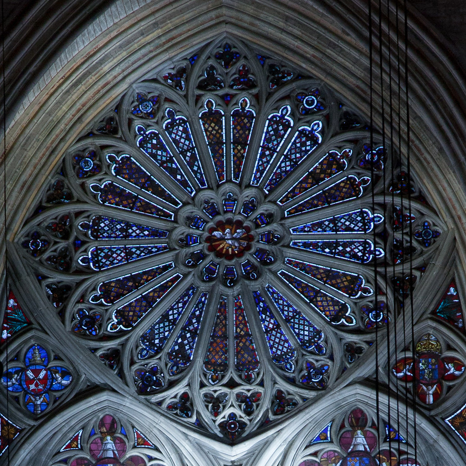 Bourges Cathedral Lighted Rose Window