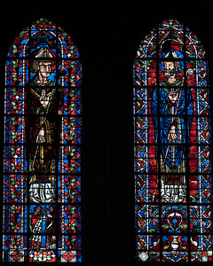 Bourges Cathedral, Clerestory Windows, Archbishops Giving a Blessing